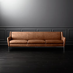 Alfred Extra Large Cognac Leather Sofa