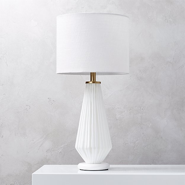 Alki white glass table lamp reviews cb2 aloadofball Gallery