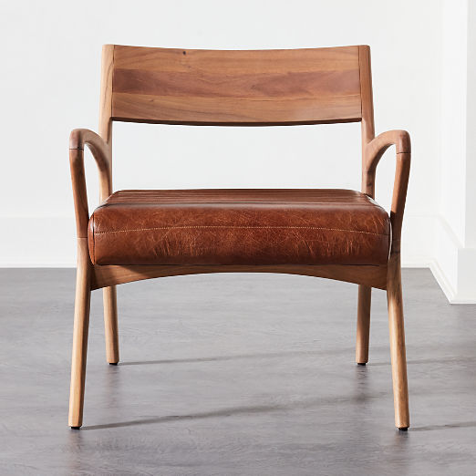 Allegro Wood and Leather Chair