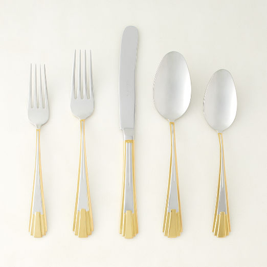 5-Piece Alessandro Two-Tone Flatware Set