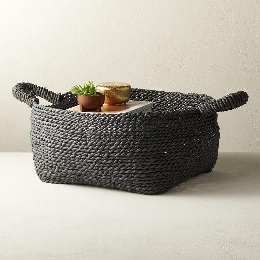 Alma Grey Basket with Handles