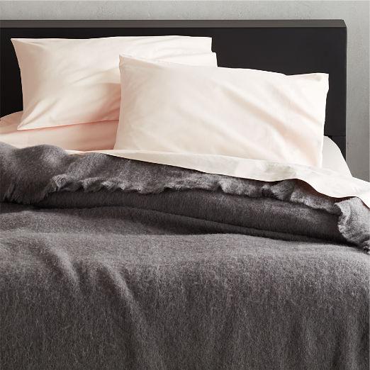 Grey Alpaca/Wool Blanket