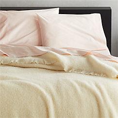 Ivory Alpaca/Wool Blanket Full/Queen