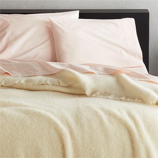 White Alpaca/Wool Blanket