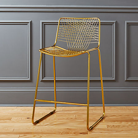 Excellent Alpha Brass 24 Counter Stool Gmtry Best Dining Table And Chair Ideas Images Gmtryco
