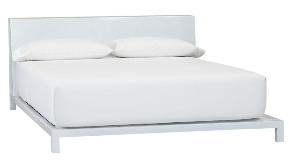 alpine white bed | CB2