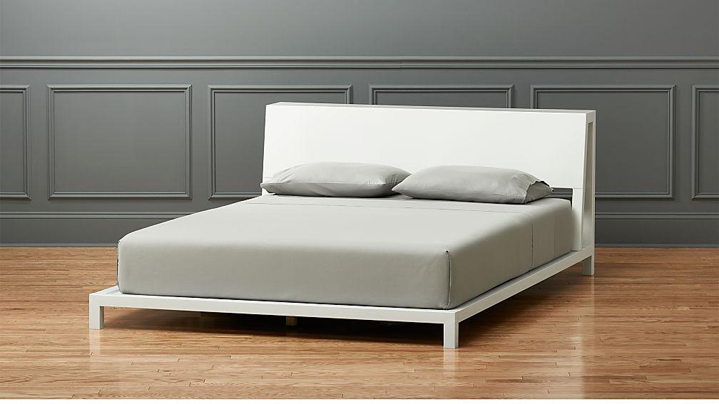 Queen Bed.Alpine White Queen Bed