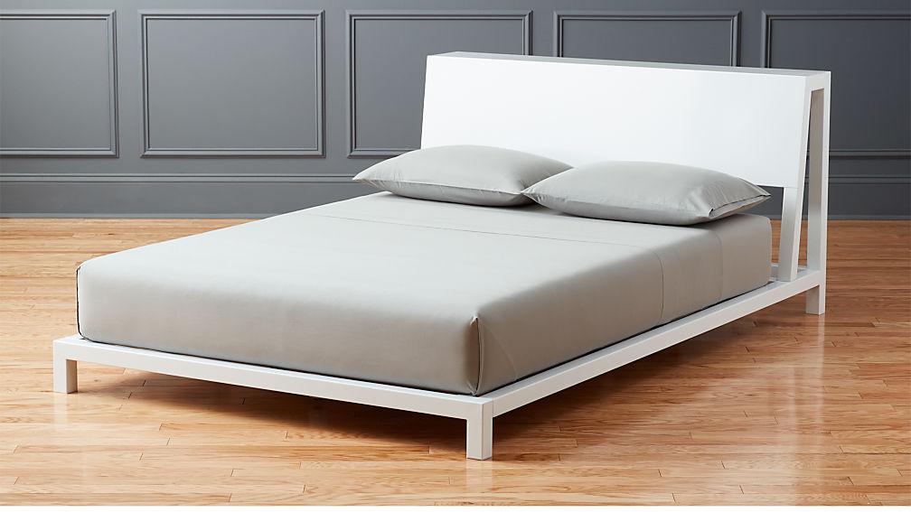 Alpine White Full Bed Reviews Cb2