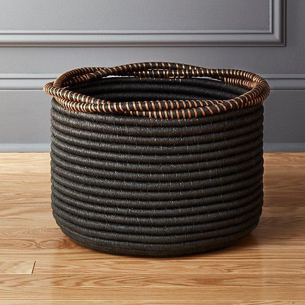 amber coiled rope basket reviews cb2. Black Bedroom Furniture Sets. Home Design Ideas