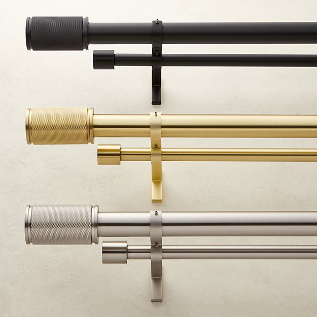 Amp Finial Double Rod Curtain Rod Set - Image 1 of 4