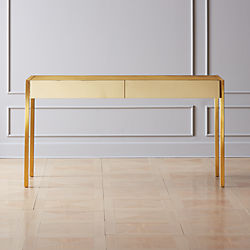 Office desks modern Cheap Analog Brass Desk Global Sources Modern Office Furniture Cb2