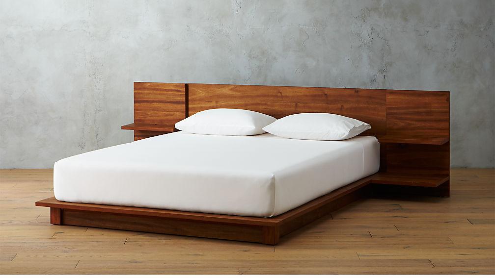 andes acacia platform bed + Re...