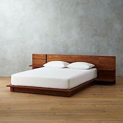 andes acacia bed & Modern Bedroom Furniture: Unique Beds and Dressers | CB2