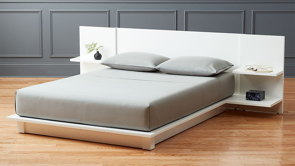 andes white storage bed | CB2