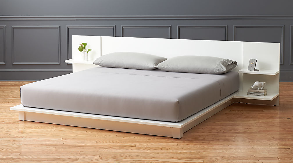 andes white king storage bed + Reviews   CB2