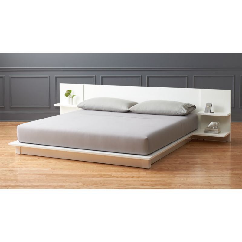 andes white king storage bed Reviews CB2