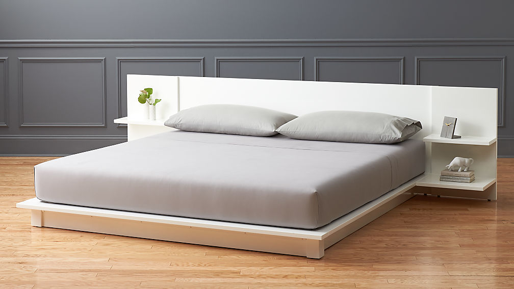 & andes white storage bed | CB2