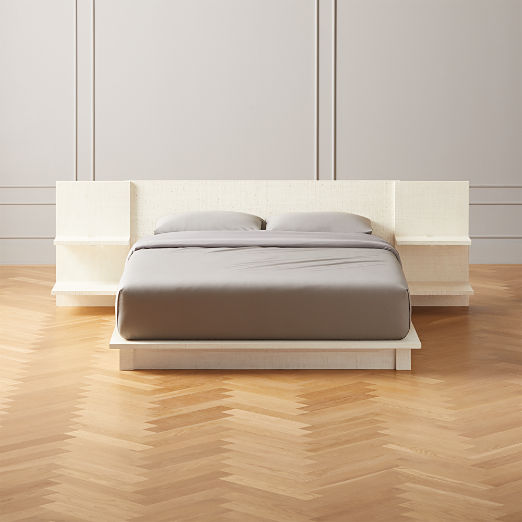 Andes Lacquered Linen Bed