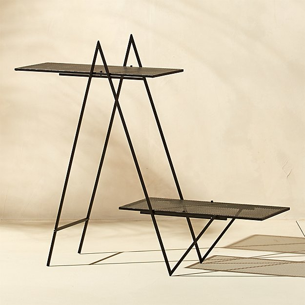 Angled Black Outdoor Plant Stand Reviews Cb2