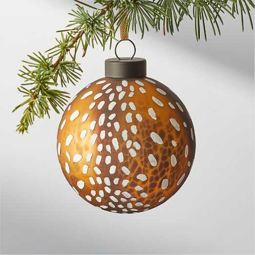 Glass Antelope Ornament