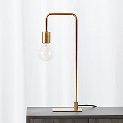 Antique Brass Arc Table Lamp