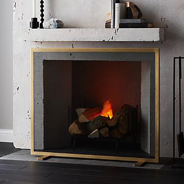 Modern Fireplace Accessories Cb2