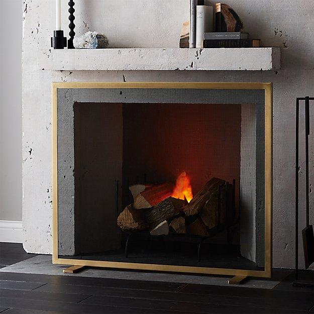Antique Fireplace Screen >> Antique Brass Fireplace Screen Reviews Cb2