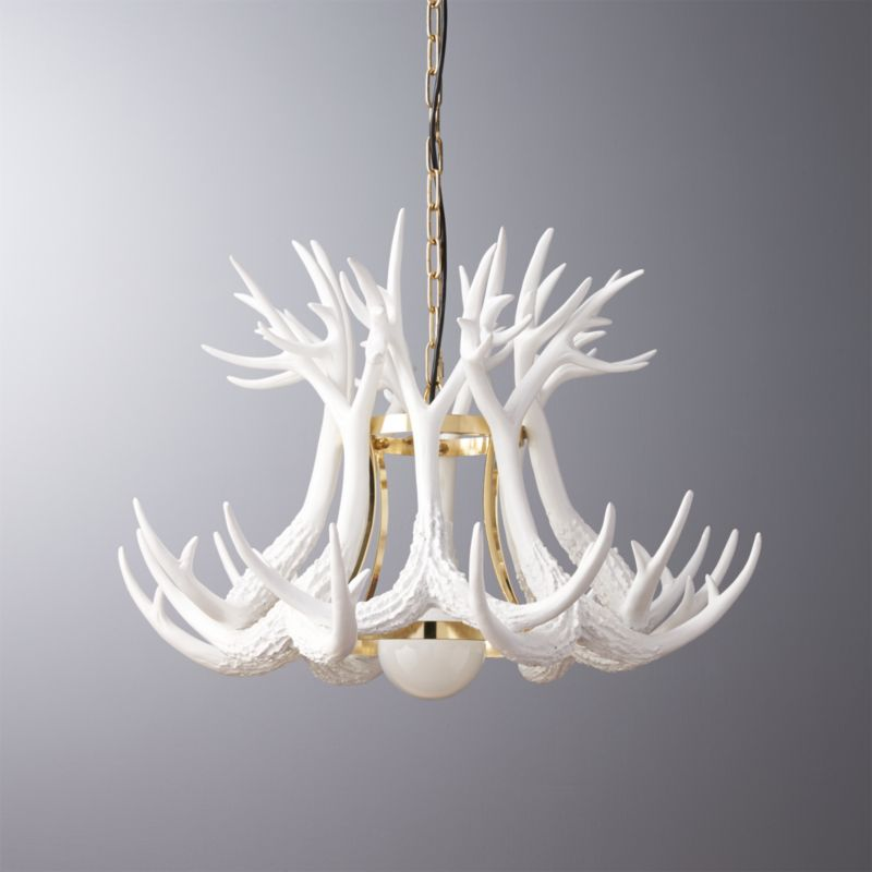 Antler pendant light reviews cb2 aloadofball