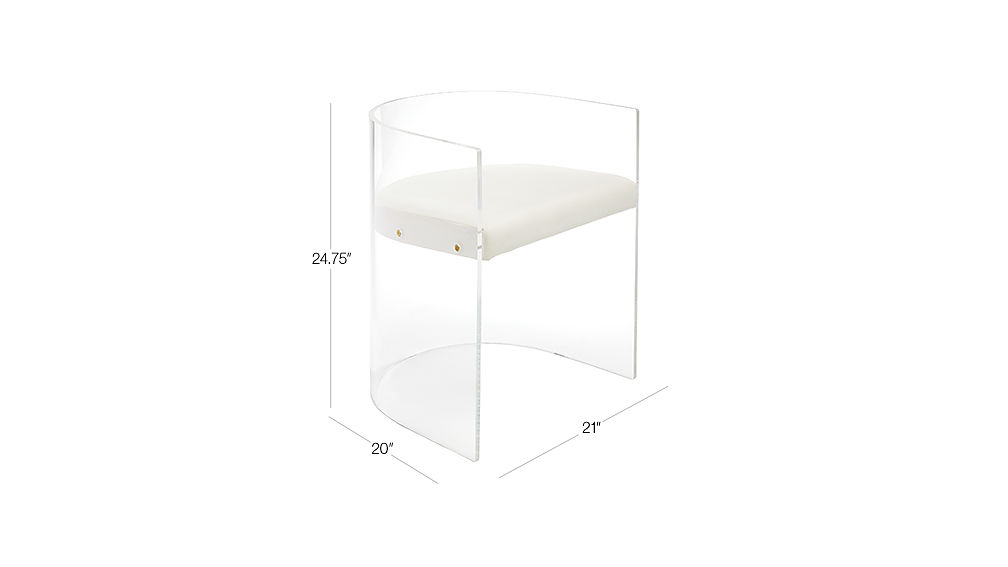 Image with dimension for Antonio Acrylic Chair