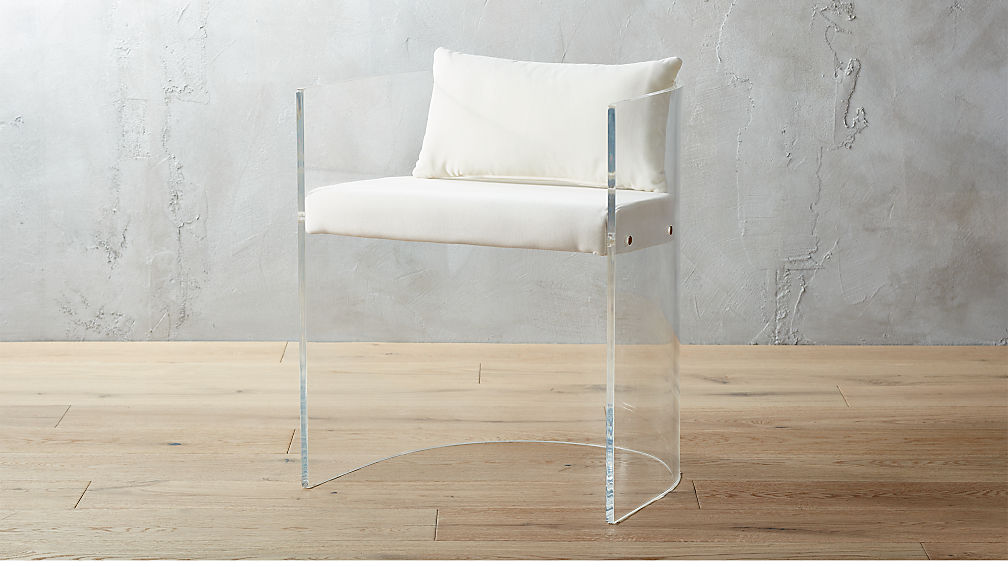 antonio acrylic chair with pillow + Reviews | CB2
