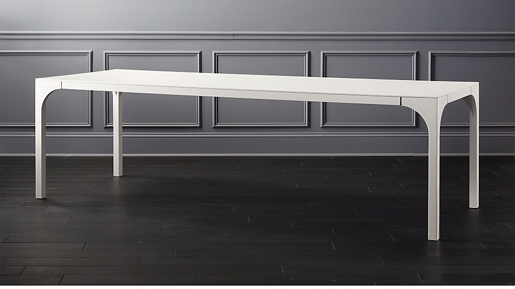 Aqua Virgo Large White Dining Table + Reviews | CB2