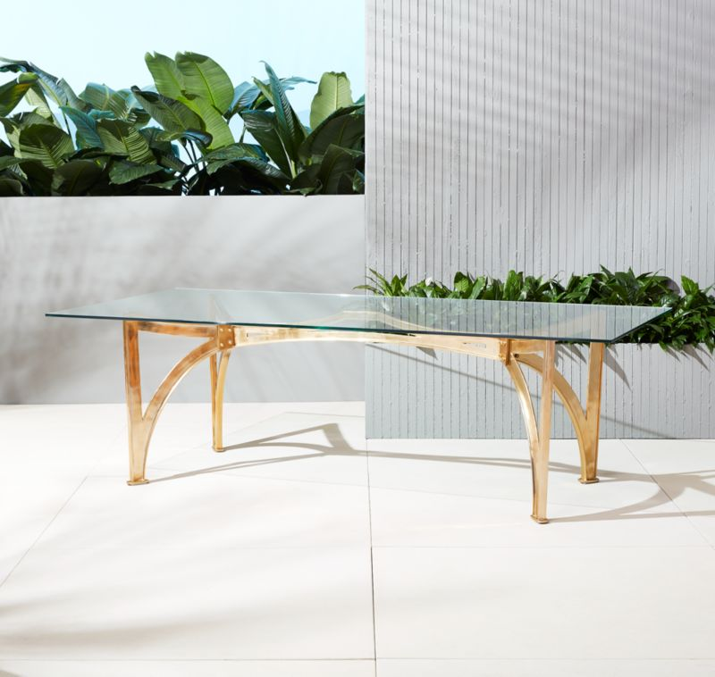 Aqueduct Clear Glass Table