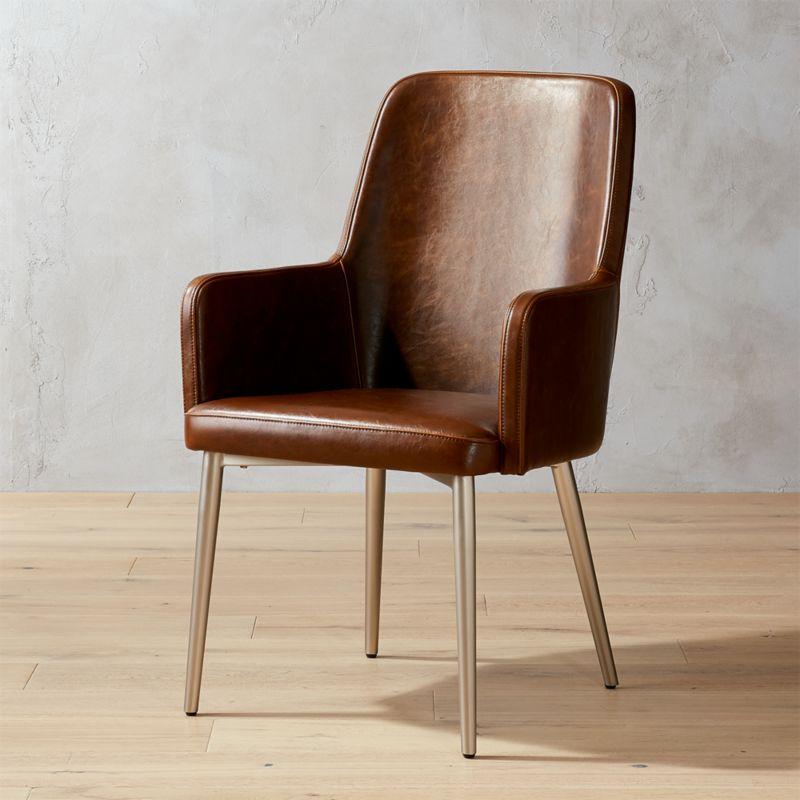 Genial Aragon Stone Grey And Silver Chair + Reviews | CB2