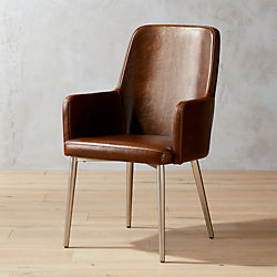 Aragon Leather Chair & Modern Accent Chairs and Armchairs | CB2