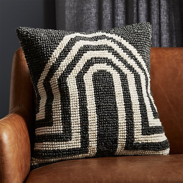 "20"" Arch Grey Pillow - Image 1 of 6"