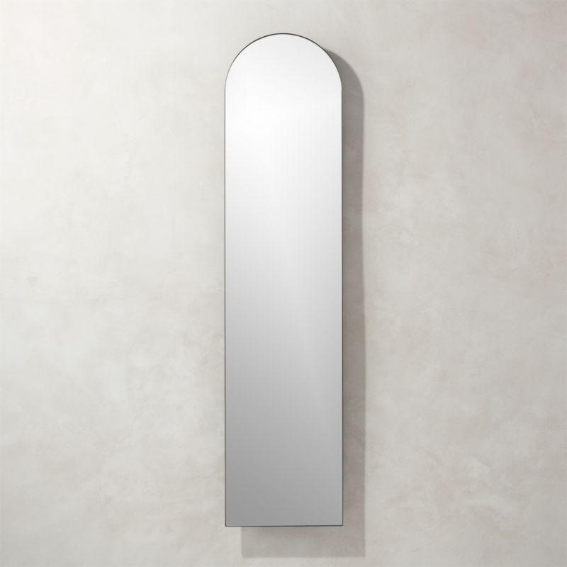 arched floors arch maroc oak mirror home down furnishings ojai mirrors floor wood