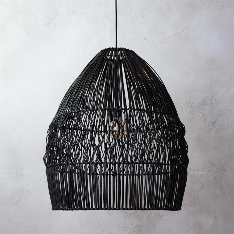 & archer black pendant light + Reviews | CB2