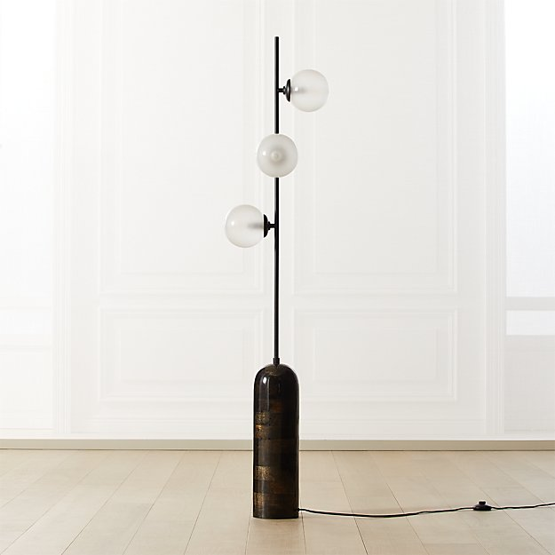 Aristocrat 3-Globe Floor Lamp - Image 1 of 8