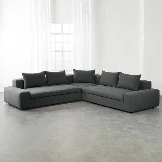Arlo 3-Piece Iron Grey Wide Arm Sectional Sofa