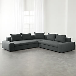 Arlo 3 Piece Iron Grey Wide Arm Sectional Sofa
