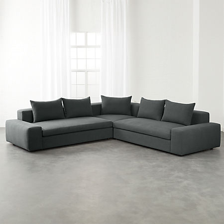 Arlo 3-Piece Iron Grey Wide Arm Sectional Sofa