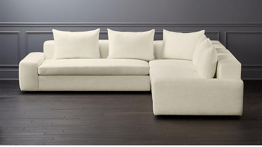 Genial Arlo 3 Piece Snow Wide Arm Sectional Sofa + Reviews | CB2