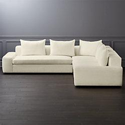 Quattro Snow Velvet Tufted 4 Piece Sectional Sofa Reviews Cb2