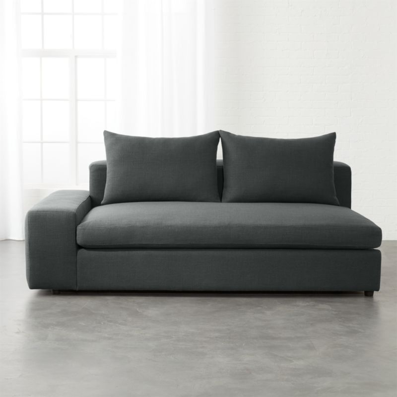 Genial Arlo Iron Grey Wide Left Arm Sofa