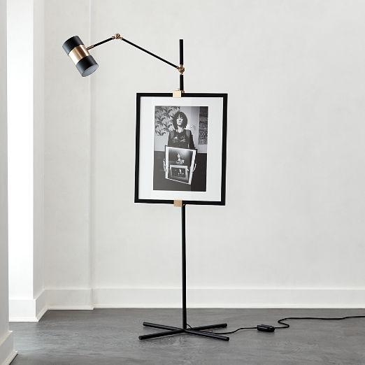 Art Easel Floor Lamp Black