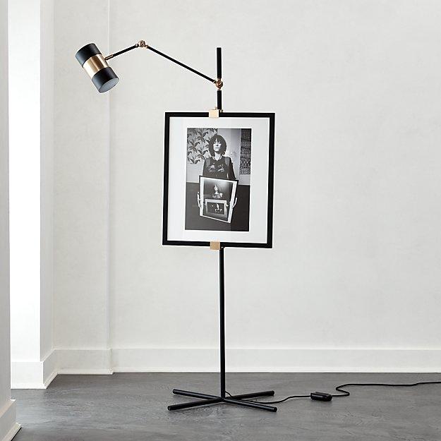 Art Easel Floor Lamp Black - Image 1 of 7
