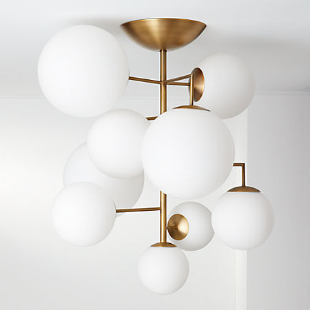 Artemis Frosted Chandelier Reviews Cb2