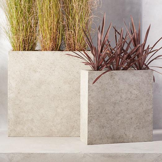 Ash Rectangular Concrete Planters