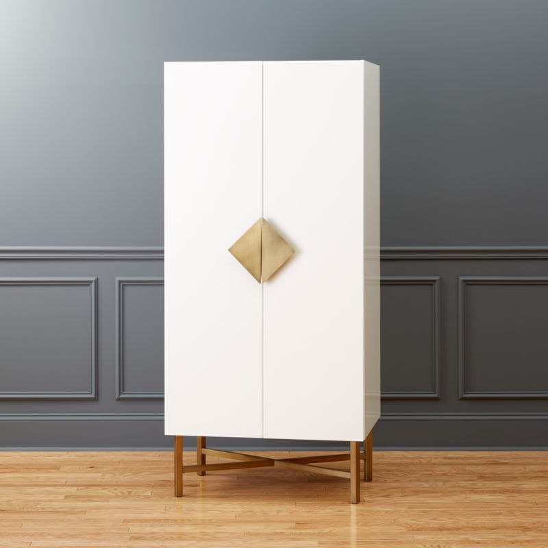 White laquer furniture Lattice Astoria Wardrobe Cb2 White Lacquer Furniture Cb2