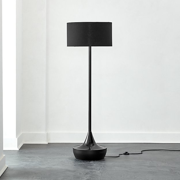Atlas Black Floor Lamp - Image 1 of 7